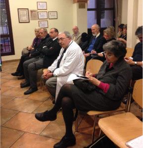 Il pubblico (in prima fila Flavia Franzoni).